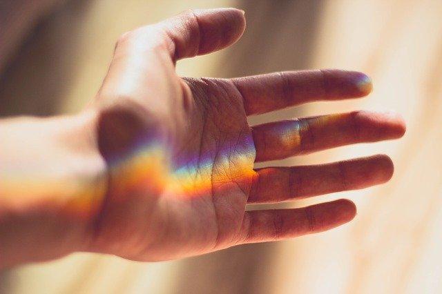 虹色をつかむ